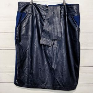 Melissa McCarthy Faux Leather Tie Waist Skirt L17